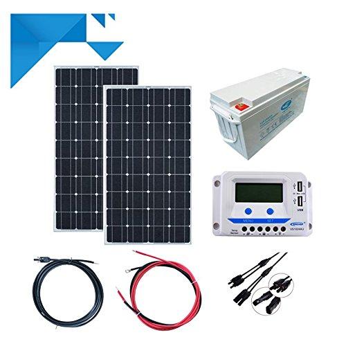 Kit Solare 300 W 12 V PWM epever Libera insDimensionezione con batteria 1200W