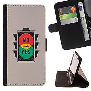 KingStore / Leather Etui en cuir / Apple Iphone 5C / No Sí Tal vez