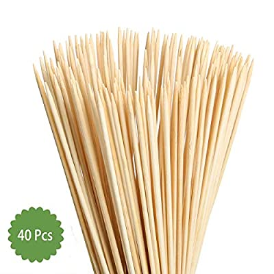 Beyonder Bamboo Marshmallow Roasting Sticks with 30 Inch 5mm Thick Extra Long Heavy Duty Wooden Skewers? Roaster Barbecue Smores Skewers & Hot Dog Forks for Camping,Party,Kebab Sausage