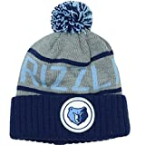 Memphis Grizzlies Mitchell & Ness NBA High 5 Gray Current Cuffed Knit Hat