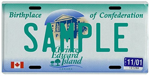 Your Name Your Province Custom Canada License Plate - All Canadian Prov. & Territories (Prince Edward Island 1997)