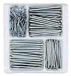 Hardware Nail Assortment Kit, Includes Wire, Finish, Common, Brad and Picture Hanging Nails