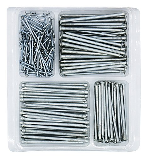 (Hardware Nail Assortment Kit, Includes Wire, Finish, Common, Brad and Picture Hanging Nails)
