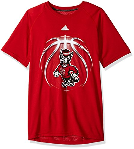 - adidas NCAA North Carolina State Wolfpack Mens Light Ball Ultimate S/Teelight Ball Ultimate S/Tee, Power Red, Small