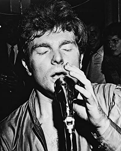 Erthstore 8x10 inch Photograph of Van Morrison Cool Classic in Concert Performing Circa 1970