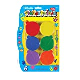 BAZIC Washable Finger Paint, Six Colors per Package
