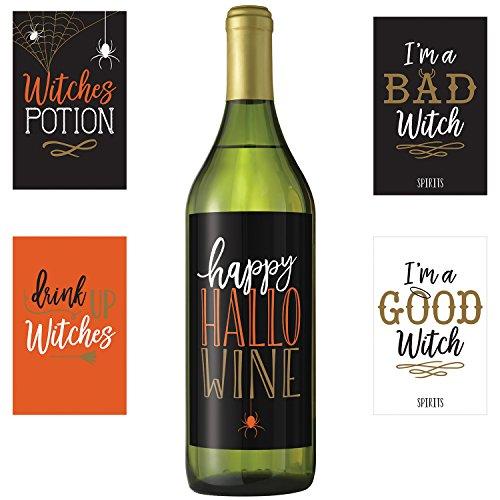 Wicked Halloween Bottle Labels