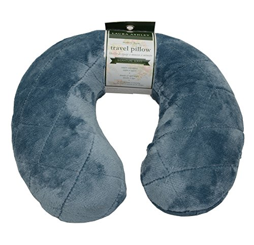 Laura Ashley Imported Memory Foam Travel Neck Pillow (Blue) Imported Luggage Accessories