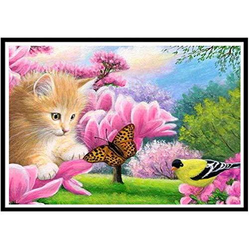 - EH-LIFE Animal Paradise Cat Butterfly Bird Cross Stitch Decorative Diamond Painting 30X40CM