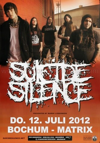 Suicide Silence - The Black Crown 2012 - Concert Poster