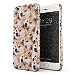 Glitbit Compatible with iPhone 6 Plus / 6s Plus Case Doge Pattern Shiba Inu Akita Cute Dog Puppy Doggo Thin Design Durable Hard Shell Plastic Protective Case Cover 5