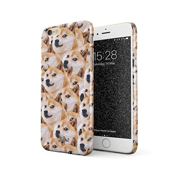 Glitbit Compatible with iPhone 6 Plus / 6s Plus Case Doge Pattern Shiba Inu Akita Cute Dog Puppy Doggo Thin Design Durable Hard Shell Plastic Protective Case Cover 1