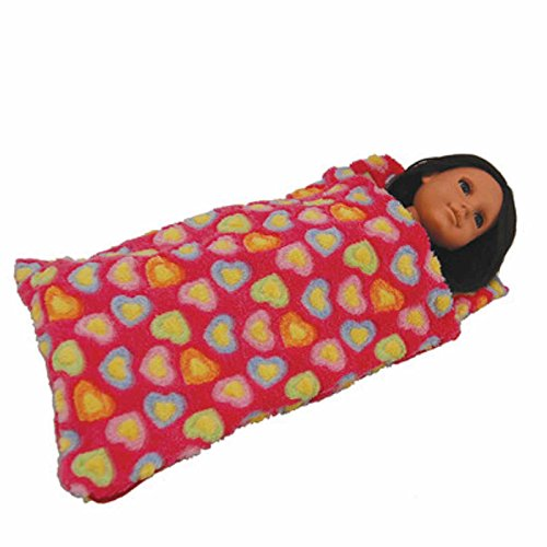 The Queen's Treasures 18 Inch Doll Sleeping Bag. Accessories Sized for American Girl Dolls, Pink