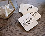Personalized Coasters – Set of 4 – Nautical Anchor