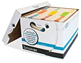 Boxa 101 Letter/Legal Record Storage Box (36 Pack) Holds 7560 Letter Size Folders Per Pack (4-1H07-0-BB-03)