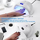 Makartt 48W Fast Dry UV LED Nail Lamp with 3