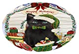 Doggie of the Day Happy Holidays Christmas Black Cat Presents Oval Envelope Seals OVE66548 (20)