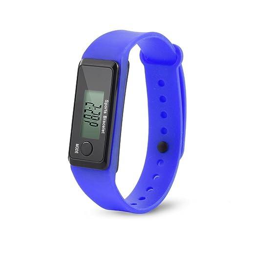 Dylung Reloj para Hombre Mujer Unisex Hodómetro Relojes Deportivo Inteligente Reloj de Pulsera Digital de Moda de Silicona Contador de Pasos Cálculo de ...