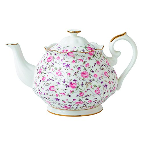 Royal Albert Rose Confetti Formal Vintage Teapot, White (Royal Albert Rose Confetti Teapot)