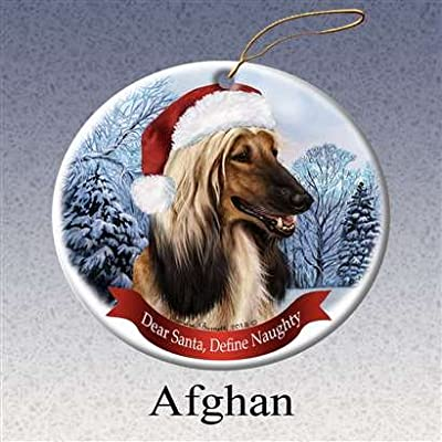 Holiday-Pet-Gifts-Choose-Your-Favorite-Dog-Santa-Hat-Porcelain-Christmas-Tree-Ornament
