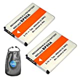 ValuePack (2 Count): Digital Replacement Camera and Camcorder Battery for Samsung BP-90A, IA-BP90A - Includes Lens Pouch