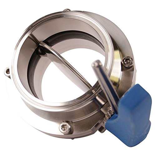 Stainless Steel SS304 // EPDM 2 Pack Butterfly Valve Glacier Tanks - Tri Clamp 4 inch Trigger Handle