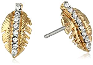 Juicy Couture Pave Feather Stud Earrings