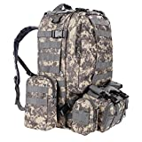 Wakrays 50L Tactical Backpack Outdoor 55L 3D Molle Tactical Military Rucksack Backpack Trekking Bag Camping Review