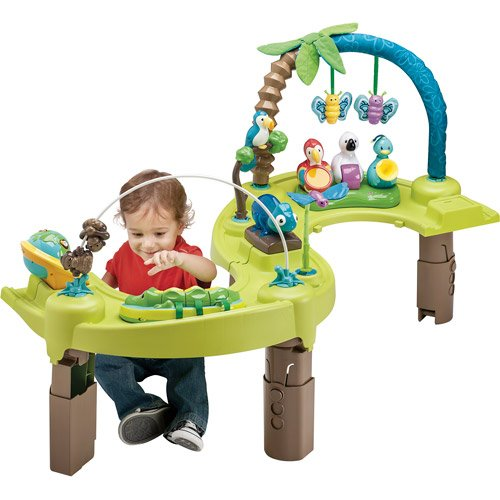 d7ab873295ba Amazon.com   Evenflo ExerSaucer Triple Fun - Jungle (Discontinued by ...