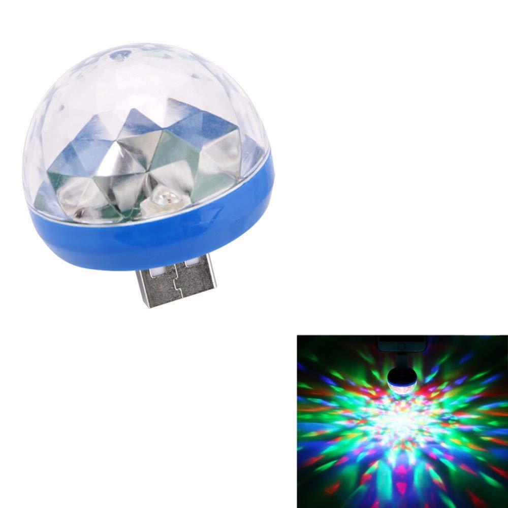 Sound Activated Party Lights, Tuscom Mini RBG Disco Ball Light, Colorful Strobe Lamp, Stage Par Light, USB Party Light, Stage Light for Dance Parties Birthday DJ Bar Karaoke Xmas Wedding (Blue) by Tuscom@ (Image #5)