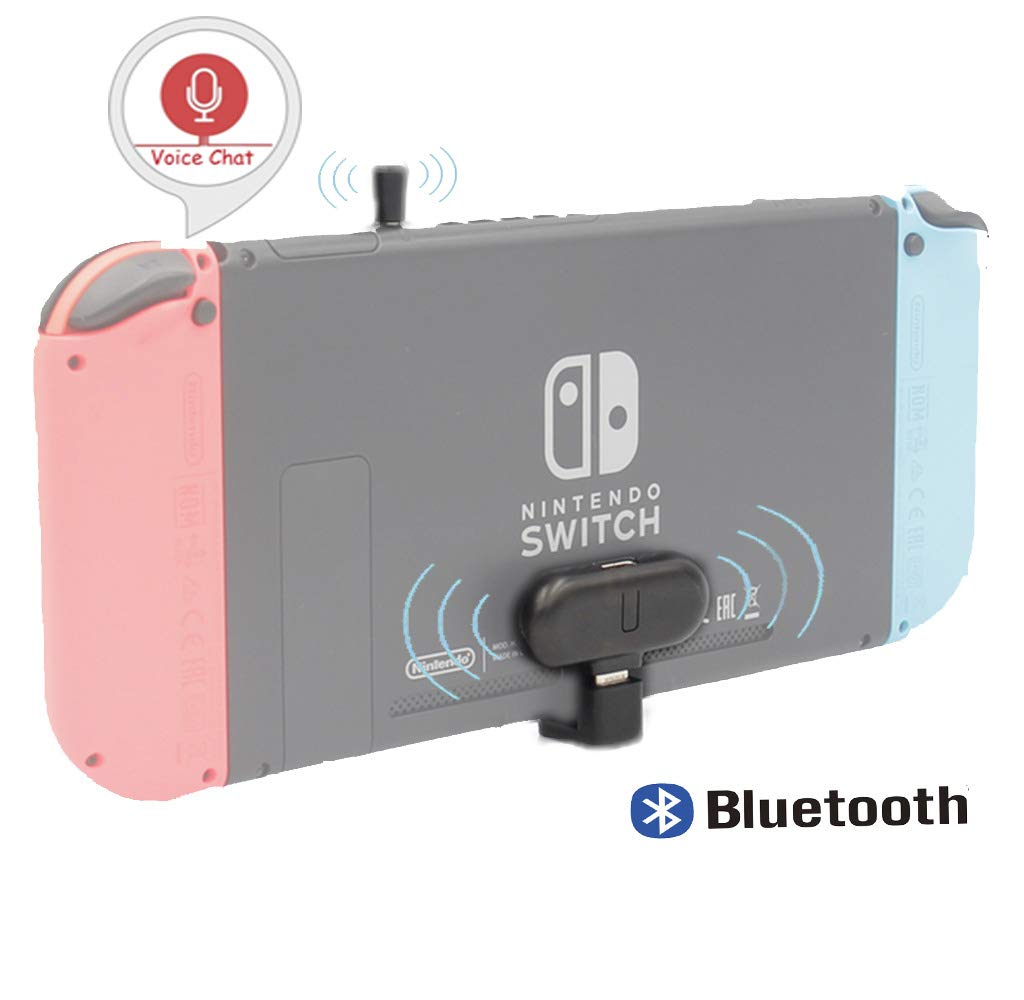 GuliKit Route+ PRO Bluetooth Transmitter Wireless Audio USB-C Adaptor or Receiver with Voice Transmission - Must Have Gaming Accessory for Wireless Headset Compatible with Nintendo Switch and PC
