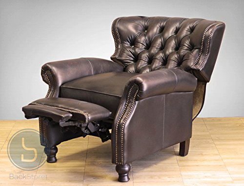 Presidential Ll Top Grain Leather Chair Manual Recliner By Barcalounger Buy Online