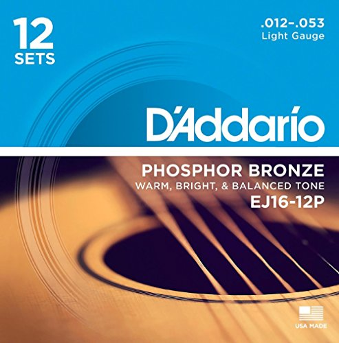 DAddario EJ16 12P Phosphor Acoustic 12 Pack product image