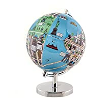 "Globee Home Office Decorative New York Night Lights 9"" Diameter Illuminated Globe"