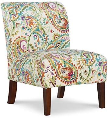 Linon Karen Curved Back Slipper Chair