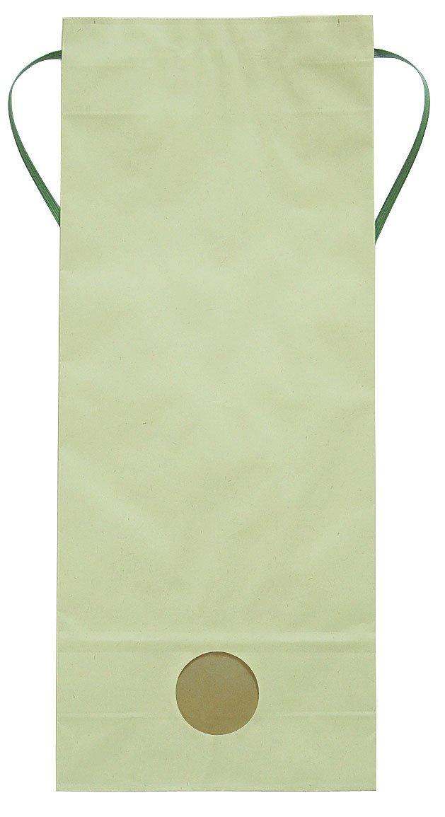 マルタカ カラークラフト 無地 わかば 窓付 角底 5kg用紐付米袋 1ケース(300枚入) KH-0880 B077GJF6JG 5kg用米袋|1ケース(300枚入) 1ケース(300枚入) 5kg用米袋