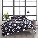 Marimekko Unikko Comforter Set, Full/Queen, Grey