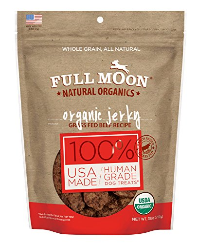 - Full Moon Organic Dog Treats, Human Grade Beef Jerky, 28 Ounce