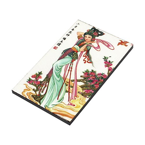 Print Art Dress in Wall Lady Tile Green uxcell Traditional Sticker Chinese fSnBYY