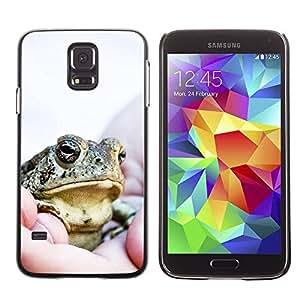 PC/Aluminum Funda Carcasa protectora para Samsung Galaxy S5 SM-G900 Cool Happy Big Frog / JUSTGO PHONE PROTECTOR