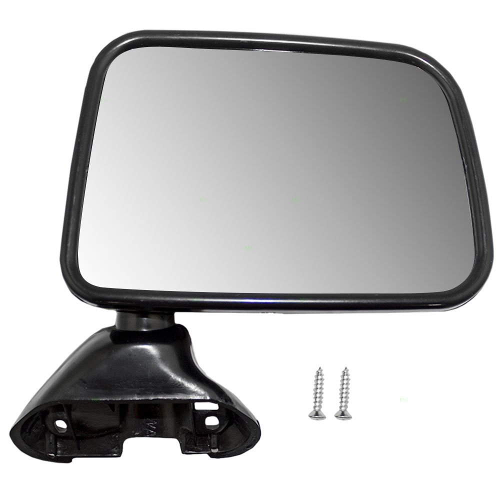 Passengers Manual Side View Mirror Door Skin Mounted Replacement for Toyota Pickup Truck with Vent Window 87910-89143