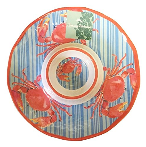 Tommy Bahama Chip and Dip Tray, Adorable Crab Print Design