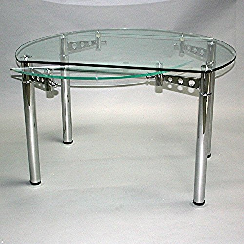Table Ronde En Verre Extensible.Table Ronde En Verre A Rallonge Extensible Strass O 120 Cm