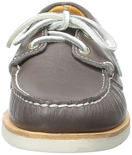 Sebago Mens Krön Kaj Båt Sko Grå Läder