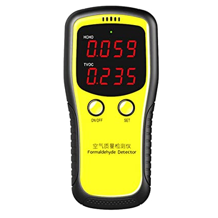 sirchti Air Quality Formaldehyde Detector Portable LCD Digital Dioxide Meter CO2 Monitor PM2.5 Indoor - - Amazon.com