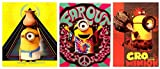 Despicable Me Minion Bundle of Three (3) 2-pocket Portfolio Folders for Organization-back to School Supplies