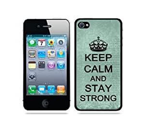 iphone covers fashion case Diy Yourself Keep Calm And Stay Strong Teal Floral - protective Designer WHITE case cover - Fits Apple iPsQWl3LZuq BeTCSCKlGn3 Iphone 6 plus / 4G
