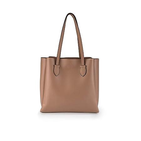 PACO MARTINEZ | Bolso de hombro shopper mujer liso beige con ...