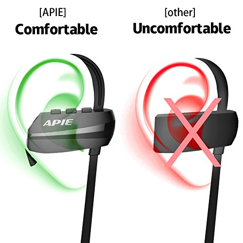 apie bluetooth headphones wireless earbuds bluetooth 4 1 with microphone sport stereo headset. Black Bedroom Furniture Sets. Home Design Ideas