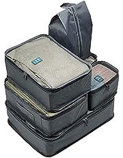 عدد 6 قطع/ طقم مكعبات التعبئة منظمة لشنط السفر